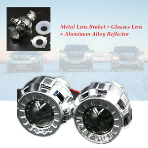 2×12V 1.8 Inch Car Micro H1 Bi Xenon Projector Lens Hi/Lo Beam Headlight Shrouds