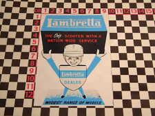 SMALL Period Style 1960's Style Lambretta Scooter Man Sticker Li TV GT SX