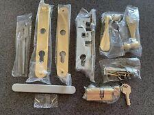 Pella Storm Door Hardware with Lock Body Mortise Lock (Brass) Complete Set