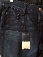 BLEULAB Two Way Denim. Skinny fit, stretch fabric, dark wash. s. 32