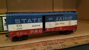 HO TRAIN Scale BAR BANGOR Aroostook 5206 Knucklers weathered xxdc