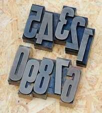 0-9 Zahlen 72mm Plakatlettern letterpress Letter Ziffern Stempel Zahl numbers