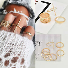 7Pcs/Set Women Stack Plain Above Knuckle Ring Boho Gold Midi Finger Tip Rings