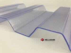 PVC Spundwand Lichtplatten Trapezprofil 70/18, 1,0 mm stark, farblos klar