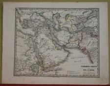 ARABIA IRAN TURKEY MIDDLE EAST CENTRAL ASIA 1856 STILER ANTIQUE LITHOGRAPHIC MAP