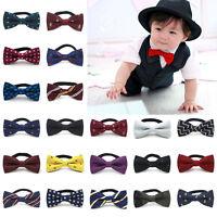 Children Kids Toddler Boys Girls Party Wedding Bowtie Pre Tied Bow Tie Necktie