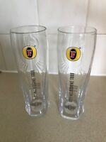 2  Brand New Fosters Lager  Pint Glasses