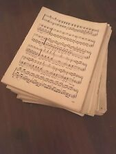1KG+ DOUBLE SIDED VINTAGE/ANTIQUE SHEET MUSIC PAPER. SHABBYCHIC,DECOUPAGE,
