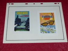 [COLLECTION AVIATION CHROMOS PUB] 2 FLYERS TWA Fly (18) Ca60/70 Chicago Floride
