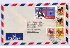 XX135 1977 TANZANIA Moshi GB Devon Airmail Cover BUTTERFLIES