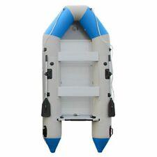 K Inflatable Boat Dinghy Raft Kayak Aluminum Alloy Floorboard 2 Oars 10.8ft Blue