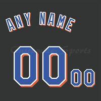 New York Mets Customized Number Kit for Alternate Black Jersey