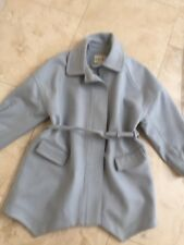 REISS LIGHT BLUE WOOL BLEND COAT SIZE S