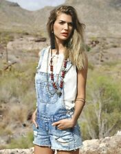 Vila Clothes Prina Denim Ripped Spielanzug Frauen Größe L UK hellblau