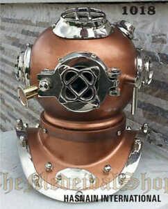 Vintage Mini Diving Helmet U.S.Navy Mark IV Deep Sea Divers Helmet Scuba Replica