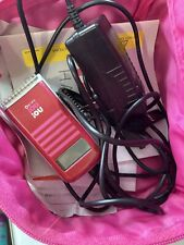 No No Hair Removal Device Red with Charger and Carrying Case