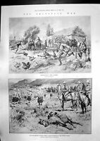Old Antique Print Redvers Bullers Force Transvaal Fire Welbeck Abbey 1900 20th
