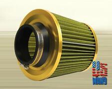 "3"" Gold Mesh Cold Air Oil Free Washable Filter for BMW Z3 Z4 E36 E46 E92 325 328"
