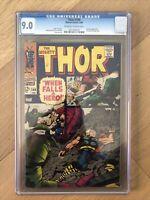 The Mighty Thor #149 CGC 9.0 OW/W Marvel 1968 Wrecker App, Inhumans Story Key