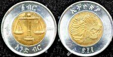 Uncirculated MS/BU Mint  ETHIOPIA BIRR LION 2010 1 BIRR & bonus coins always add