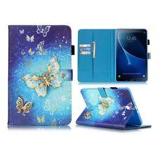 Adorno del modelo Diseño bolsa iPad ajustable para tablet cubierta carcasa Samsung Galaxy Tab a 10.1 T580 / T585 2016 amarillo mariposas en la luz