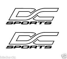 (2) 8.5 inch DC Sports Car Racing Window Decal Sticker