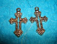 Pendant Cross Charm 2 Pcs Religious Charm Symbol Charm Rosary Charm Spiritual