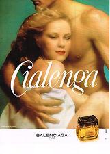 PUBLICITE ADVERTISING  1977   BALENCIAGA   parfum  CIALENGA