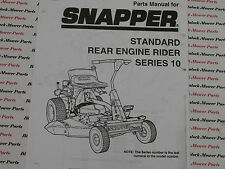 06086 Snapper Series 10 Rear Engine Rider Parts Manual