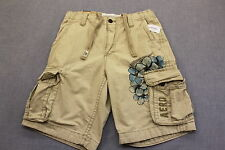 AEROPOSTALE LOGO Mens BEIGE KHAKI HEAVY MILITARY LONG CARGO SHORTS NWT 30  $45