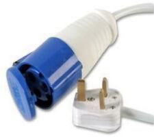 4M Mains electric hook up adaptor UK 16A Socket 13A Plug Caravan Converter Metre