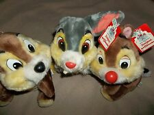 "Vintage Walt Disney World Chip & Dale Chipmunk plush 9"" stuffed doll Disneyland"