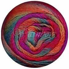 Lang Yarns ::Mille Color Sock & Lace #66:: yarn Fuchsia-Red-Orange-Teal-Green