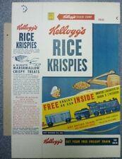 1956 Kellogg's Rice Krispies Free Engine Or Car Cereal Box