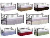 Daybed Skirt-Split Corner Ruffled Bed Skirts of Dust Ruffle Bed Skirt