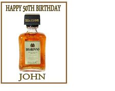 """Disaronno Amaretto Whiskey Bottle A4 Icing Sheet 10""""x8"""" Cake Topper"""