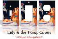 Lady and the Tramp Disney Light Switch Covers Handmade Home Decor Outlet