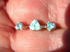 Paraiba Neon Apatite Solitaire Ring & Earring Set 1.20tcw Size 6.25