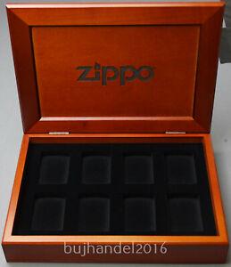 "Zippo Feuerzeug ""originale Zippo Holz Sammelbox / Vitrine für 8 Zippo"" Neu & OVP"