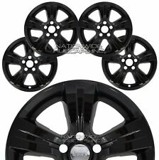 "4 Gloss BLACK 2011-17 PATRIOT COMPASS 17"" Wheel Skins Hub Caps Alloy Rim Covers"