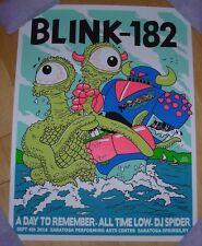 Blink 182 concert gig poster print Saratoga Springs 9-4-16 2016 Jeff Lamm