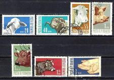 Animaux Elevage Roumanie (186) série complète 7 timbres oblitérés