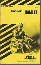 Cliffs Notes on Shakespeare's Hamlet James K Lowers PB 1971