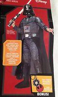 New Star Wars Darth Vader Halloween Costume Size Boy's Medium 8-10 Rubies/Target