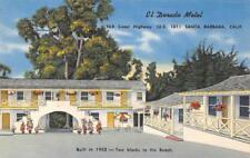 EL DORADO MOTEL Santa Barbara, California US 101 Roadside 1952 Vintage Postcard