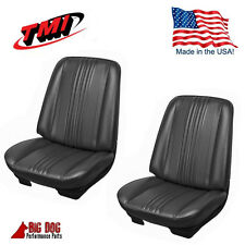 1970 Chevelle Front & Rear Seat Upholstery - Black- Made by TMI