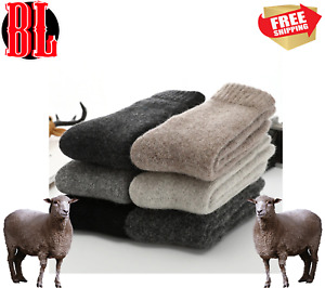 3Pairs 100% Wool Cashmere Winter Thick Soft & Warm & Pure Socks