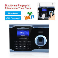 Zk U160 Biometric Fingerprint Time Attendance Payroll Recorder USB+Wift+TCP/IP