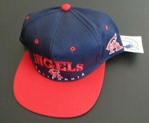 CALIFORNIA ANGELS Baseball VINTAGE Drew Pearson Youth Snapback NEW Hat Cap MLB