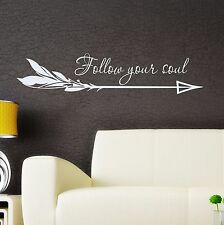 Arrow Wall Decal Boho Arrow Vinyl Stickers Quote Bedroom Bohemian Decor FD124
